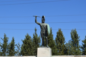 Statue of Leonidas, King of Sparta and leader of the 300