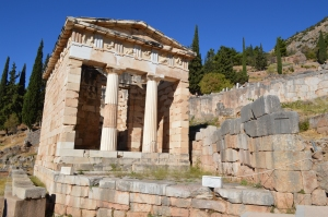 The Athenian Treasury. In this temple the sacrifices' to Apollo from Athenians were stored