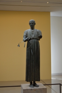 The life size bronze, The Charioteer of Delphi