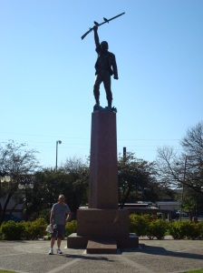 The Statue and grave of Ben Milam in Milam Park