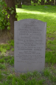 Grave of the Boston Massacre victims
