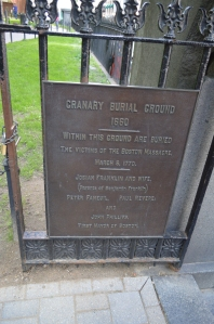 Entrance to the Granary Burying Ground