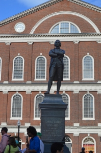 Samuel Adams statue in front of Faneuil Hall