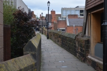 The Midieval walls of Chester