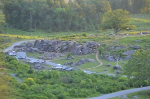 "Looking down of the ""Devil's Den from the the Little Round Top"