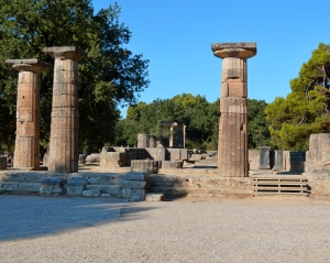 The entrance to the Temple of Hera