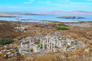 The archaeological site of Delos