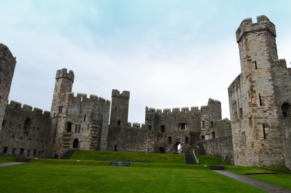 Inside Caernarfon Castle looking toward the Queen's Gate