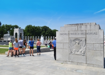 WW II Memorial sign