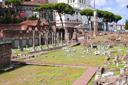 The ruins of the Forum of Caesar