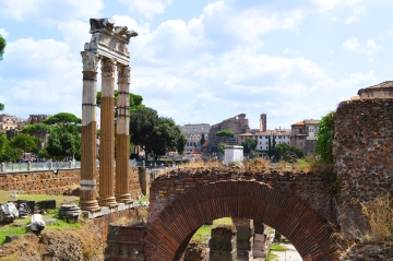 The ruins of the Temple of Venus of Genetrix