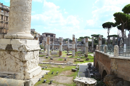 The ruins of the Forum of