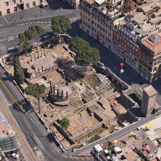 Largo di Torre Argentina, Rome Italy where Ceaser was murdered