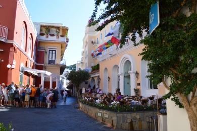 street of Capri street one