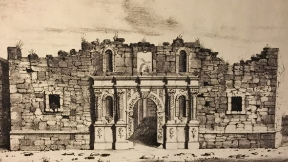The Alamo Church in ruin 1848