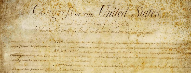 The Preamble to the Bill of Rights photoshopped