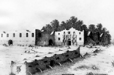 The three ruined Alamo buildings
