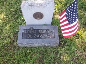Adina de Zavala's grave