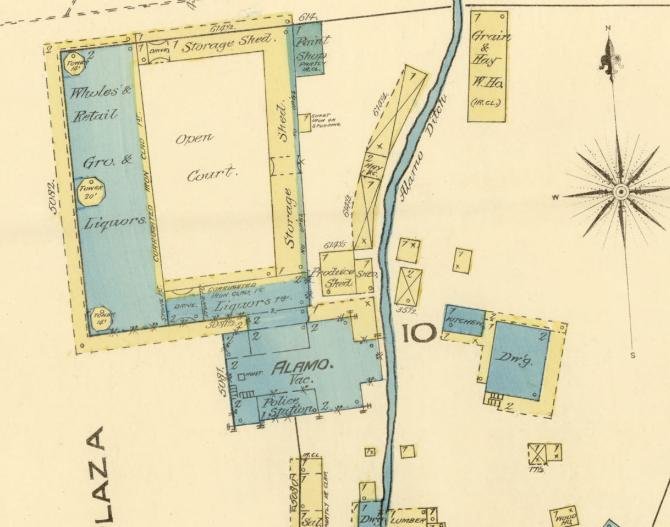 Sanborn map of San Antonio 1885